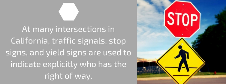 Right of Way Rules in California - (Pedestrian Accidents)